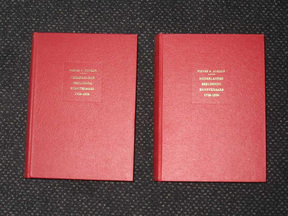 2 delige Pieter A. Scheen, lexicon Nederlandse beeldende kunstenaars 1750-1950 (met supplement) hard kaft, nieuwstaat.