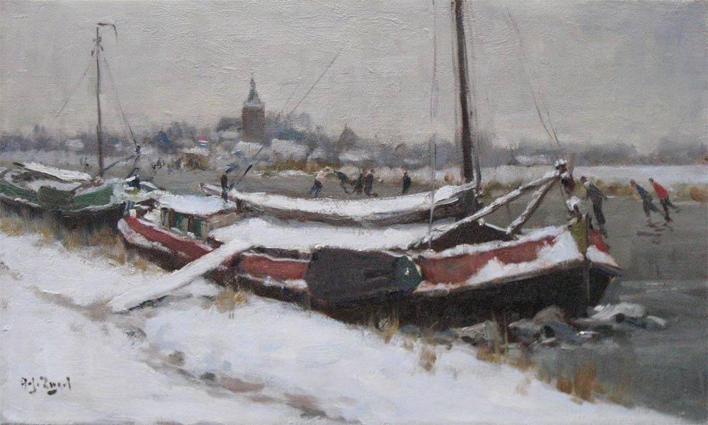 Zwart, A.J.Zwart , Arie Zwart was born in Rijswijk in 1903 and he died in Laren in  1981.