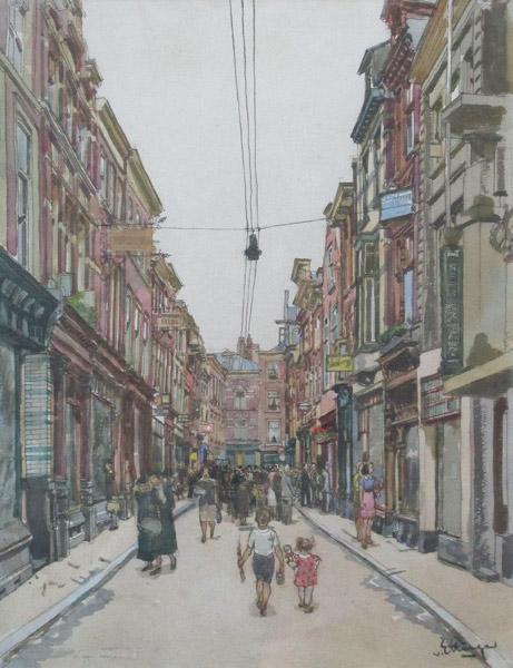 Den Haag, aquarel op papier, afmeting 35x45cm beeldmaat