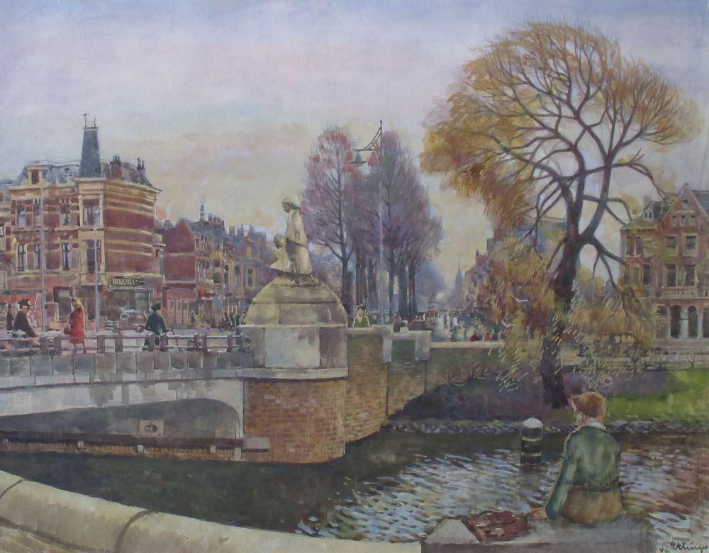 Den Haag, aquarel op papier, afmeting 50x63cm beeldmaat