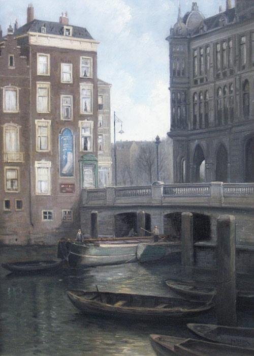 Mosseltrap bij plan C te Rotterdam, Jurrien Marinus Beek, geb. te Arnhem op 5 april 1879, overleden te Den Haag op 15 oktober 1965