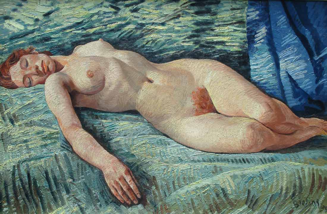 Bieling, H. Bieling, Herman Bieling, naked woman