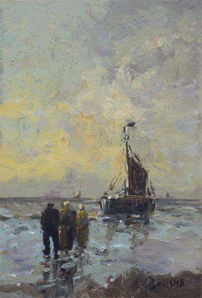 Brolsma, J.H. Brolsma, Johannes Hessel Brolsma (Groningen, 1909 - Ede, 1990) was een Nederlandse kunstschilder.  Hij heeft gewoond en gewerkt in Groningen, Groenlo, Bussum, Amsterdam en Ede. Brolsma vertrekt op 28-jarige leeftijd naar Amsterdam om te studeren aan de kunstacademie. Verder kreeg hij les van onder meer Jos Rovers en Albert Hemelman.  Hij was niet alleen een bekwaam schilder maar ook aquarellist en tekenaar. Daarnaast restaureerde hij schilderijen. Zelf schilderde hij landschappen en stadsgezichten in een impressionistische stijl. Bekend is hij van zijn winterlandschappen, niet alleen in een impressionistische maar ook romantische stijl. Er zijn ook stillevens van hem bekend. Hoe veelzijdig in schilderstijlen Brolsma was, blijkt wel uit het gegeven dat hij een