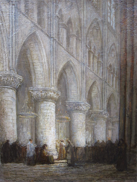 Kerkinterieur (Jan Cossaar)