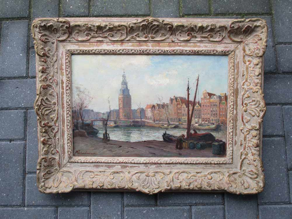 Cityview Amsterdam, size including frame 54x70cm