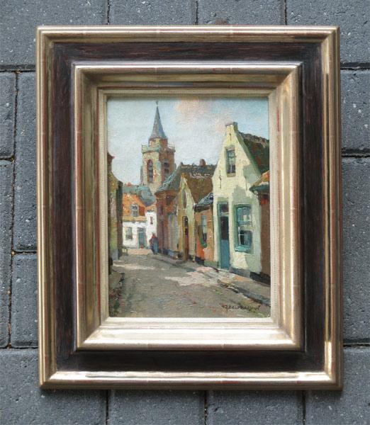 Villageview Scheveningen, size including frame 33x39cm