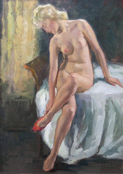 Sitting nude (W. Hempfing)