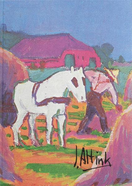 Twee boekwerken in linnen cassette, monografie van Jan Altink