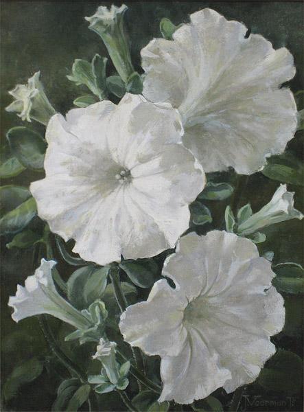 en]Voerman, Jan Voerman jr. is geboren te  Hattem in 1890 en overleden in 1976 te Blaricum   Jan Voerman werd geboren in 1890 als zoon van de kunstschilder Jan Voerman sr., vooral bekend als de schilder van IJsselgezichten bij Hattem. Voerman jr. kreeg les van zijn vader en op zeer jonge leeftijd werd hem gevraagd om de illustraties te maken voor de bekende Verkade-natuuralbums. Ook voor zijn schilderijen koos hij meestal onderwerpen uit de natuur, zoals landschappen en stillevens van planten en bloemen. Hij bestudeerde deze zeer nauwkeurig, hetgeen in zijn schilderijen duidelijk tot uiting komt.