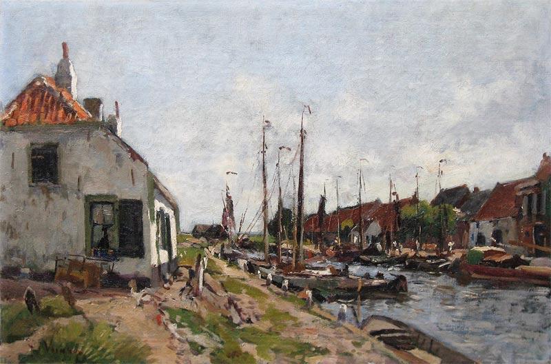 Vuuren, Jan van Vuuren geboren te Molenaarsgraaf (Z.H.) op 26 januari 1871 en overleden te Ermelo op 2 augustus 1941.  Al op jonge leeftijd werd zijn tekentalent herkend door een aantal plaatselijke notabelen die ervoor zorgden dat de jonge Van Vuuren in de leer kon bij R. Larij. Later volgde hij ook lessen aan de Haagse Academie voor Beeldende Kunsten en bij de Amsterdamse schilder G.W. Dijsselhof. In 1896 wordt hij toegelaten tot het gerenommeerde Schilderkunstig Genootschap Pulchri-Studio te Den Haag.