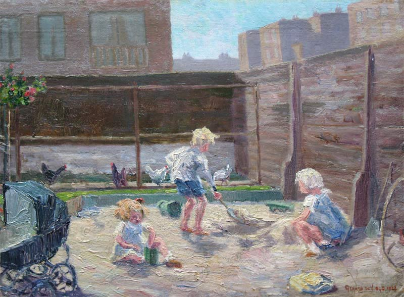 Playing kids (Gerard de Voogd)