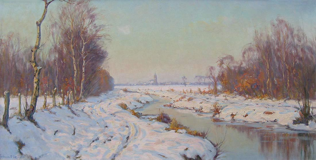 Winterlandscape Blaricum (Johan Meijer)
