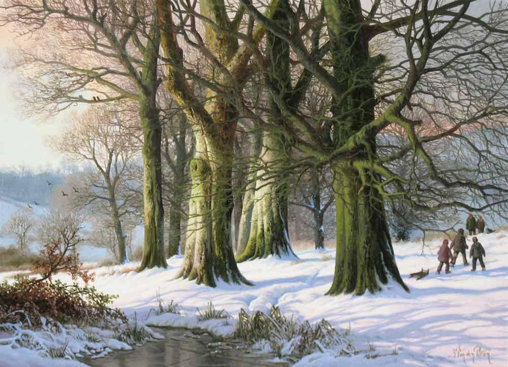 Daniel van der Putten, winterlandscape