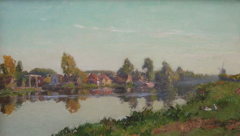 View Loenen aan de Vecht, Schagen, G.F.van Schagen, Gerbr. Fred. van Schagen was born in Den Haag in  1880 and he died in Laren in 1968.