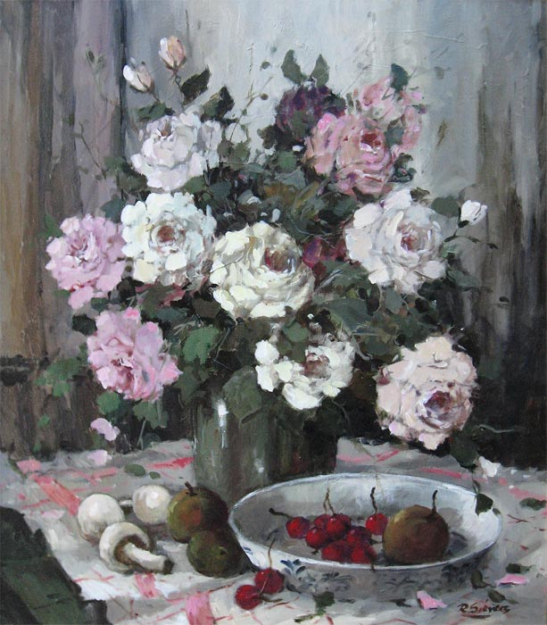 Rein Sievers was born in 1929 in Holland. He was a painter of cityviews and flower stillifes.