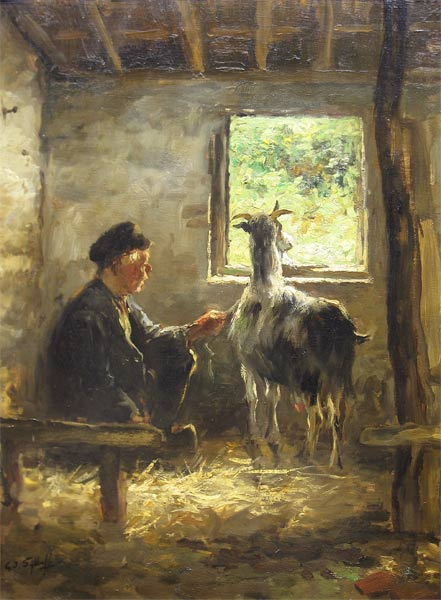 Gijsbertus Jan Sijthoff werd op 6 augustus 1867 te Delft. Hij was leerling van de Academie van Beeldende Kunsten te Den Haag, daarna kreeg hij les van B.J. Blommers. Hij schilderde, aquarelleerde, tekende en lithografeerde portretten, in- en exterieurs, stadsgezichten en landschappen.   Sijthoff was lid van 'St.Lucas' en 'Pulchri', de Nederlandse Kunstkring en de vereniging van B.K. 'Laren-Blaricum'. Hij gaf les aan zijn vrouw Johanna Bastiana van Rijswijk, A.F.A.M. Hiel en Maria Ch. J. Sterre de Jong.   Tentoonstellingen: Amsterdam 1892, Den Haag 1893, Rotterdam 1894. Literatuur: Pieter A. Scheen 1750-1950 S.J. Mak van Waay 1870-1940 Haller   Sijthof overleed te Laren op 14 oktober 1949.