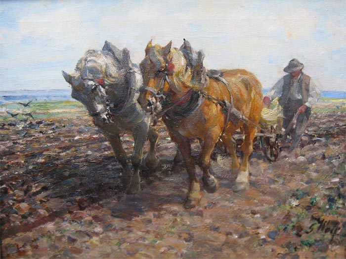 Georg Wolf, was a landscape, animal, genre, and military painter. He attended 