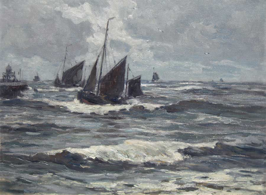 Hambuchen, W. Hambuchen, Wilhelm Hambuchen was born in Düsseldorf (Germany) in 1869 and painted mostly coast views.