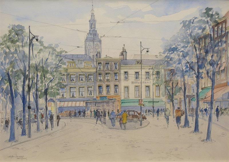 Hengst, Johannes Gerardus (Jan) den Hengst is geboren te Delft op 19 mei 1904. Hij woonde en werkte in Delft tot 1930, Hilversum; sedert 1954 in Amsterdam. Vormde zichzelf. Schilderde, aquarelleerde en tekende in impressionistische trant landschappen, stadsgezichten, bloemen en stillevens. Hij was lid van 'Arti et Amicitiae' en 'St. Lucas' te Amsterdam en van het Amersfoorts Kunstenaars Genootschap 'A.K.G.'.
