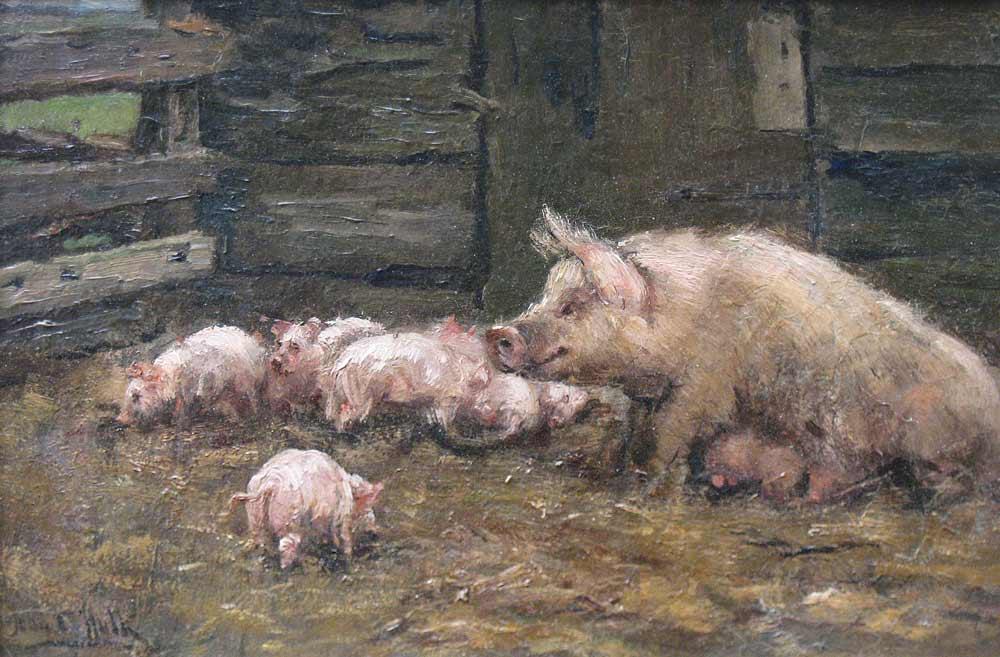 John Hulk werd in 1855 geboren als zoon van de winkelier en schilder Johannes  Frederik Hulk en is overleden in 1913. Naast zijn vader had hij vele leermeesters.  Eerst op de Rijksacademie in Amsterdam en daarna in Parijs op de bekende  Académie Julian. Zijn roepnaam 'John' dankt hij vermoedelijk aan de jaren dat hij  werkzaam was in Engeland en roem vergaarde met schilderijen en aquarellen  van de Engelse vossenjacht met honden. Terug in Nederland legde hij zich toe op  het schilderen van dieren en jachttaferelen als eenden- en hazenjachten. In 1907  werd hij benoemd tot conservator van het Teylers Museum in Haarlem