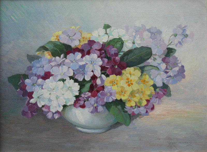 Kaemmerer, Johan Hendrik Kaemmerer werd in 1894 in Den Haag geboren. Hier bracht hij ook het grootste deel van zijn leven door en hij overleed er in 1979. Hij was leerling van de Academie voor Beeldende  Kunst in Den Haag, van  J.G. van Jole en van Ype Wenning.    Kaemmerer schilderde in de stijl van de Haagse School landschappen interieurs, portretten en enkele stillevens. Hij was bestuurslid van