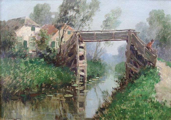 Knikker, Jan Simon Knikker, roepnaam Jan, werd in 1911 in Leiden geboren. Hij woonde en werkte in Wassenaar, Voorschoten en Den Haag. Signeerde met Jan Knikker jr. Zoon van Jan Simon Knikker sr. Later gebruikte hij het pseudoniem H. Endlich.     Hij was een leerling van de Academie voor Beeldende Kunst in Den Haag (1928-1932) en hij schilderde in figuratieve trant landschappen en stadsgezichten. Hij wordt gezien als een navolger van de Haagse School en hij werkte veel voor de kunsthandel. Zijn stadsgezichten zijn vooral in het buitenland bijzonder gezocht.