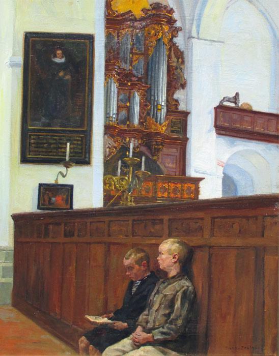 Reinhold Koch-Zeuthen war ein in Berlin tätiger Maler und Grafiker. Sein Vater war Georg Koch.  1915-1918 Studium an der Hochschule für bildende Künste in Charlottenburg u. a. bei Kallmorgen.  Er schuf Architekturansichten, deren Motive er der norddeutschen Ebene entlieh.