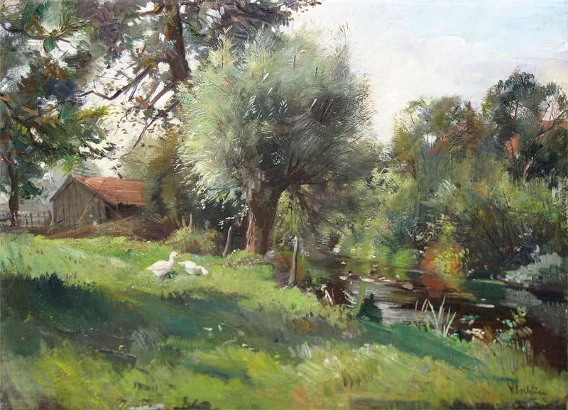 Korteling, Willem is geboren te Deventer op 8 mei 1889 en overleden te Diepenveen op 18 mei 1964. Hij woonde en werkte in Deventer tot 1927, daarna in Diepenveen. Hij was leerling van zijn vader B. Korteling. Hij schilderde, aquarelleerde en tekende landschappen (in en om de IJssel en Deventer), bosgezichten, pluimvee en zeer fraaie stillevens enz. Werk van deze kunstenaar is vertegenwoordigd in ondermeer het Deventer Museum en her Gemeente Museum te Arnhem.