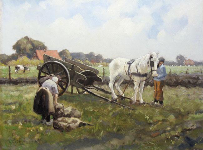 Krol, Gerard Krol is geboren te Rotterdam op 1 maart 1882 en overleden in Enschede op 12 april 1950. Woonde en werkte in Rotterdam, Kortenhoef en Enschede. Leerling van de Academie v. B.K. te Rotterdam. Schilderde vnl. landschappen (heidegezichten, veenplassen, boerenhoeven, roggevelden, enz.), stillevens en figuren. Was bestuurslid van de Twentse Kunstkring.