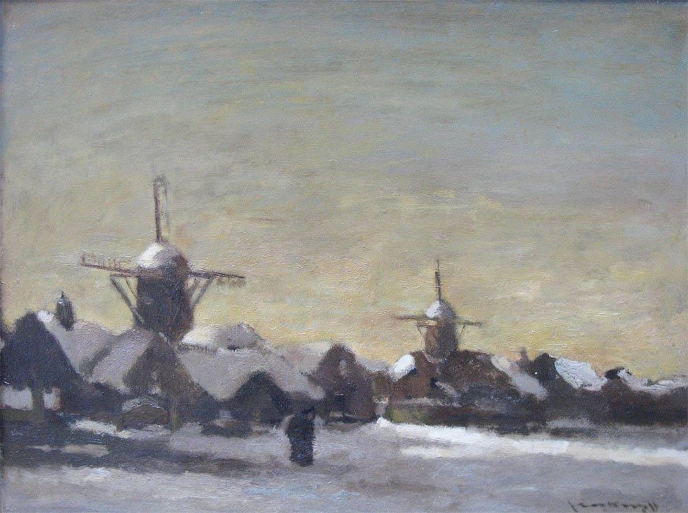 """Den Haag 22.05.1892 – Delft 05.09.1979  Joop Kropff bezocht de Academie van Beeldende Kunsten in Den Haag. Hij schilderde, aquarelleerde, tekende, etste en lithografeerde stillevens, portretten en landschappen. Van de oliewinning in de Zuidoosthoek van Drenthe, maakte hij de schoolplaat """"Olieveld Schoonebeek"""". Hij was lid van """"Pulchri Studio"""" in Den Haag."""