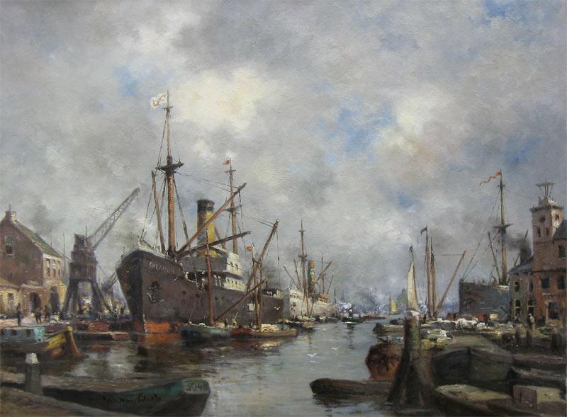 Laar, Johannes Jacobus van Laar is geboren op 3 juni 1886 in middelburg. hij woonde en werkte in Amsterdam tot 1914, Blaricum tot 1917, Ermelo tot 1919, Aalsmeer tot 1921, Amsterdam tot 1926, Loosdrecht tot 1958, Abcoude tot 1965 en sindsdien in Mheer. Hij schilderde en tekende in hoofdzaak Nederlandse stadsgezichten en havengezichten.
