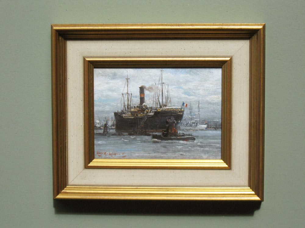 Harbourview, size including frame 24x28,5cm