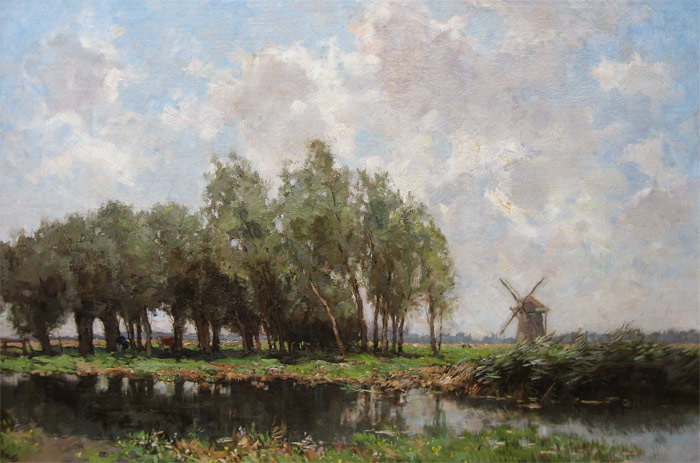 Landschap, Miolée, A. Miolée, Adrianus Miolée Was born in 1879 and he died in 1961.