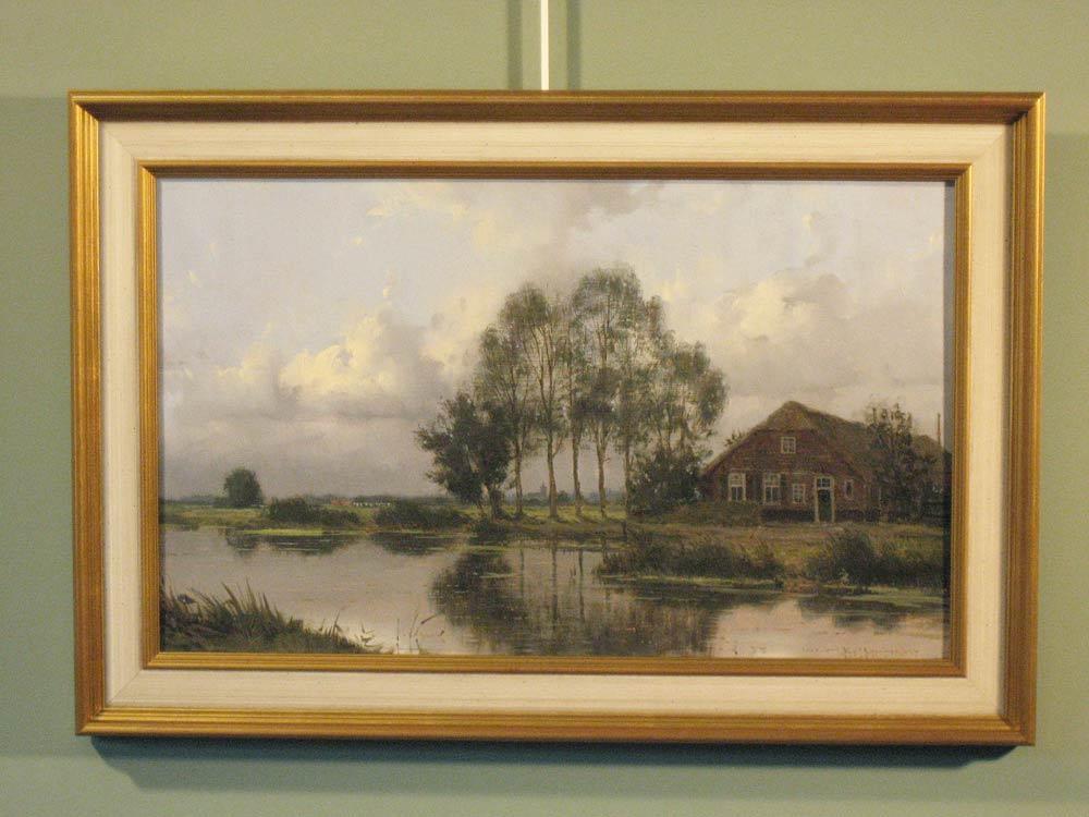 Landscape, size including frame 42x62cm