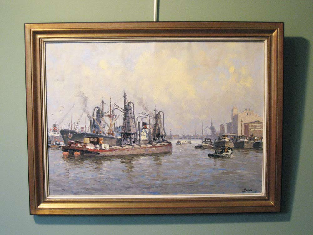 Harbourview Rotterdam, size including frame 65x85cm