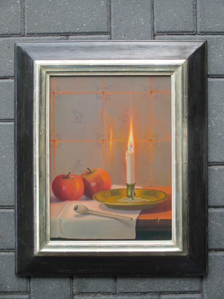 Stillife by candellight, size including frame 50x60cm