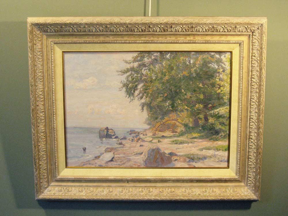 Coastview, size including frame 70x90cm
