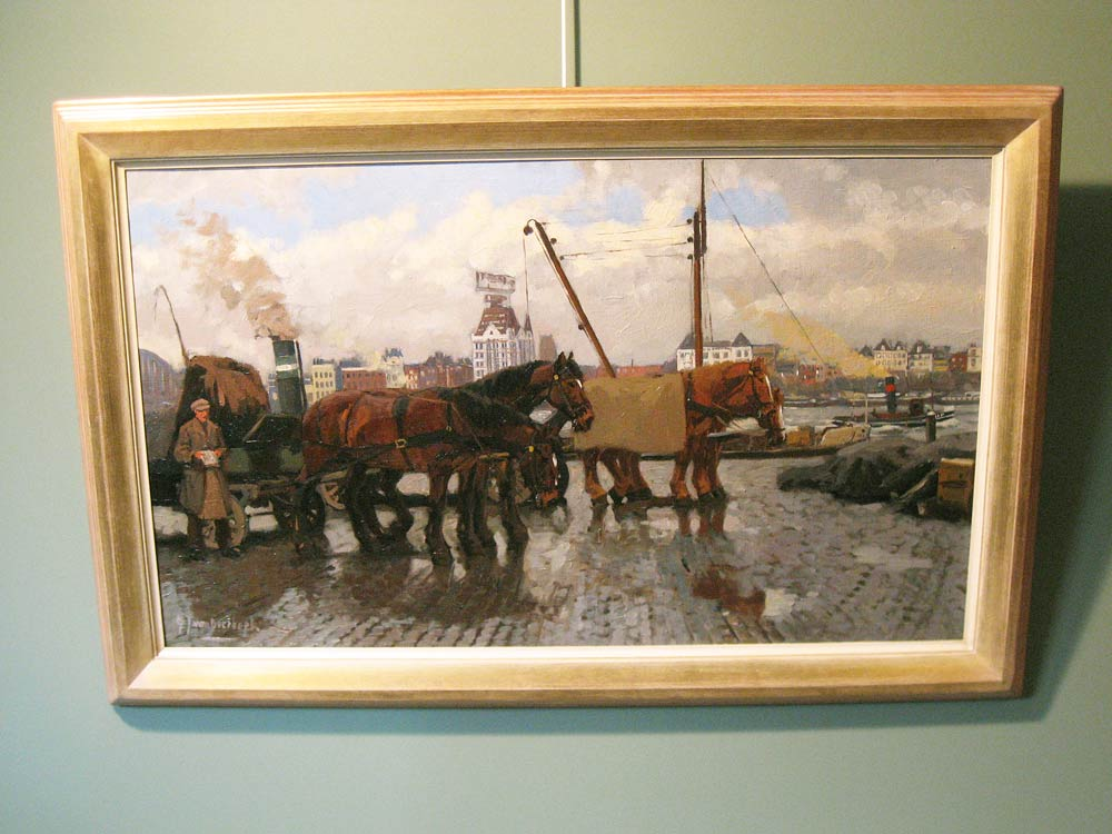 Cityview Rotterdam, size including frame 80 x120cm