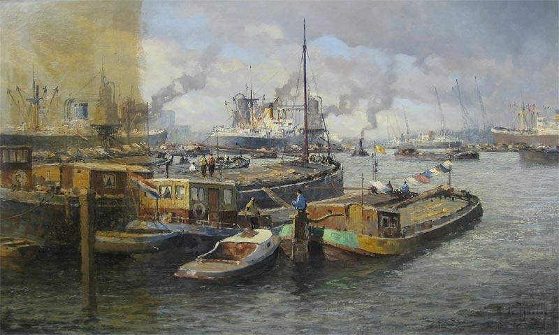 reiniging van het schilderij van M. de Jongere