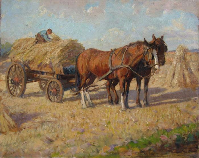 Nieuwenhoven, Willem van Nieuwenhoven werd op 20 juni 1879 geboren te Rotterdam. Hij volgde zijn opleiding aan de Ambachtschool voor decoratieschilders en kreeg avondlessen op de Academie voor Beeldende Kunst te Rotterdam onder leiding van A. van Maasdijk. Aannemelijk is dat hij ook van zijn vader H.G. van Nieuwenhoven, geboren op 10 november 1851 te Scheveningen en overleden te Laren op 12 juni 1927 ook les heeft gehad. Tevens poseerde hij ook vaak voor zoon junior ( zie 2e afbeelding beneden). Hij schilderde voornamelijk portretten, interieurs en figuren. In zijn studietijd stond hij aanvankelijk onder invloed van de