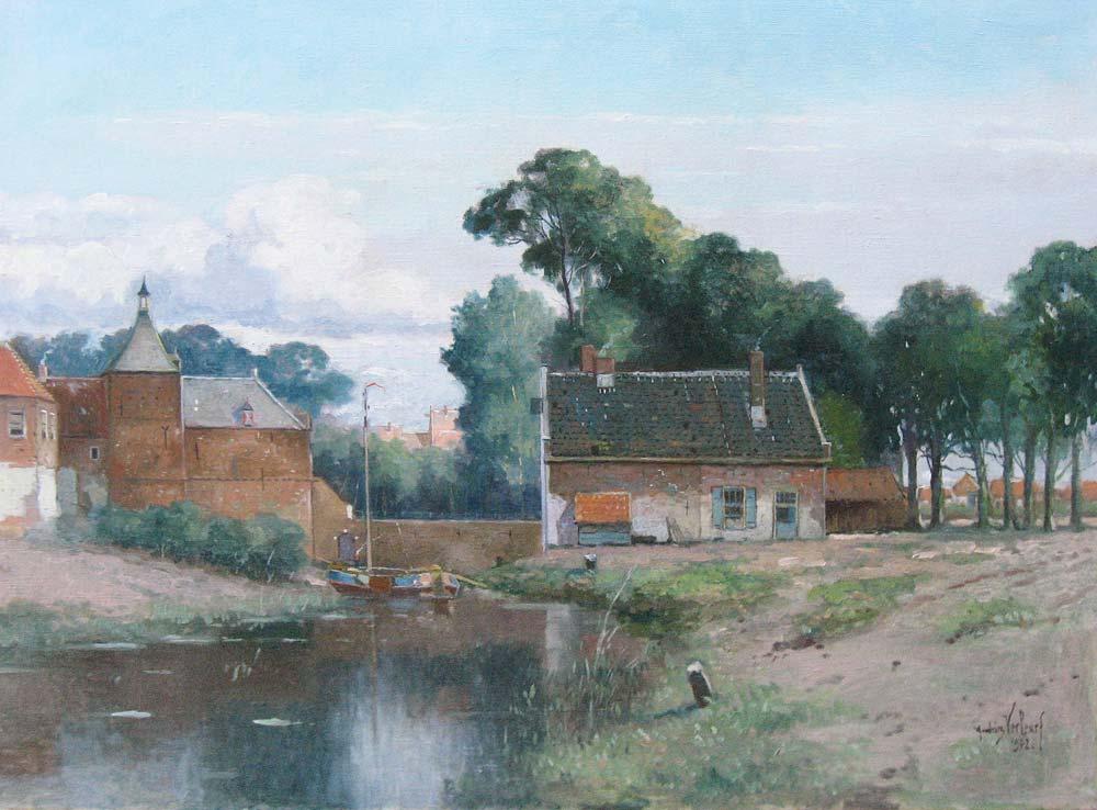 Haarzuilens bij Utrecht, Andries Verleur, afmeting 60x80cm doekmaat