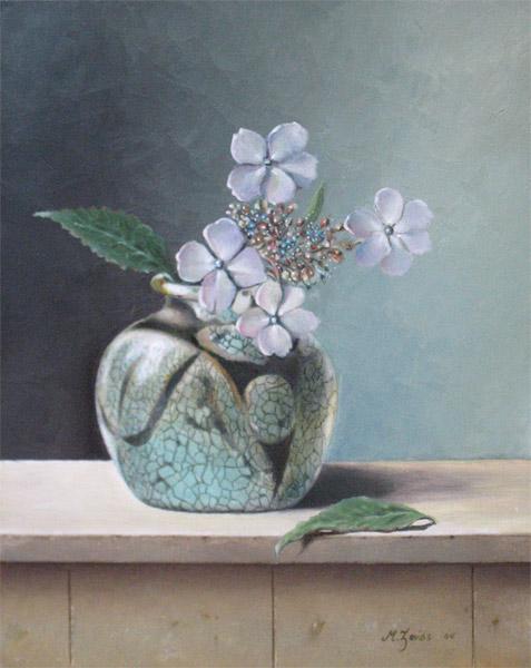 Mels Zeiss, hortensia, 20x25cm paneelmaat