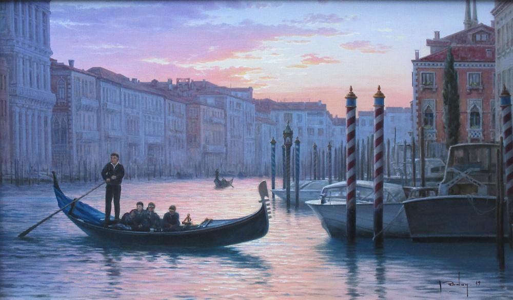 Venetië, olieverf op linnen, afmeting 30x50cm doekmaat
