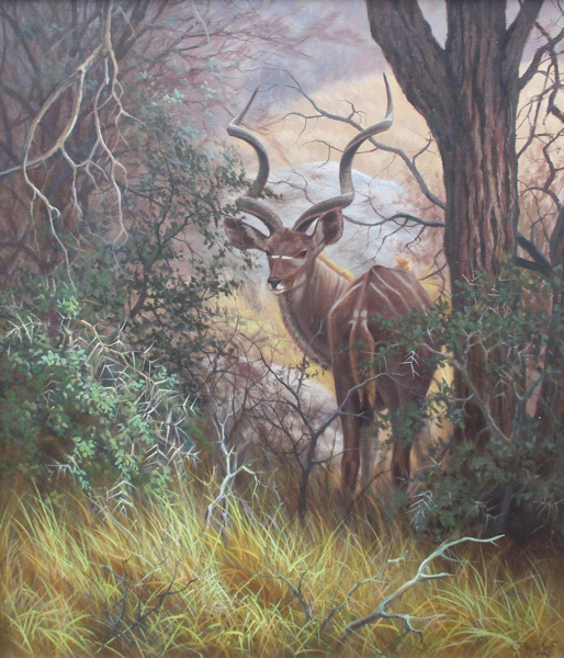 Wild in de natuur, Olieverf op linnen, afmeting 70x80cm doekmaat