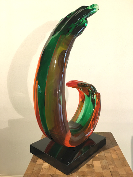 Glasobject, hoogte 49cm
