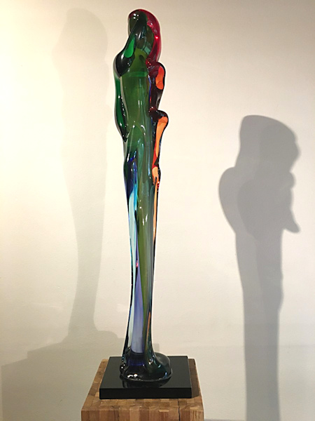 Glasobject, hoogte 103cm