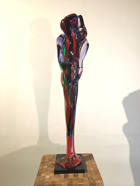 Glasobject, hoogte 76cm