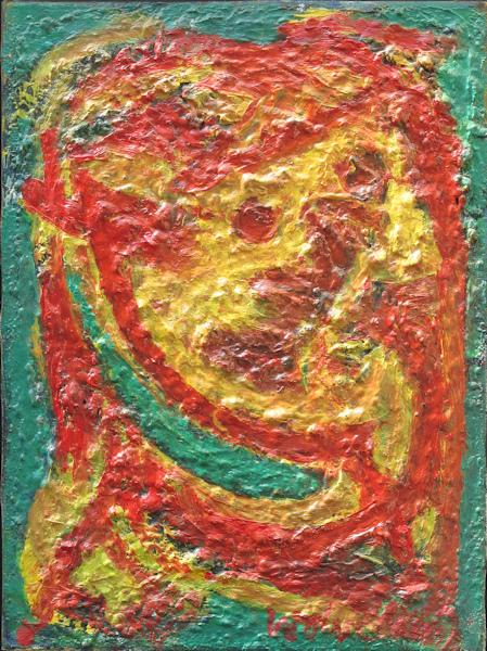 Vrije compositie, olieverf op linnen, afmeting 29x40cm doekmaat