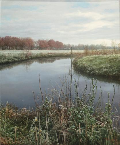 Landschap bij Gasselternijveen, olieverf op linnen, afmeting 50x60cm doekmaat