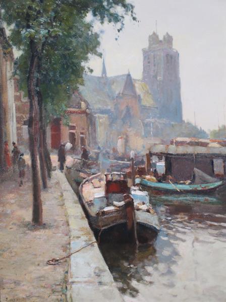 Dordrecht, olieverf op linnen, afmeting 75x100cm doekmaat